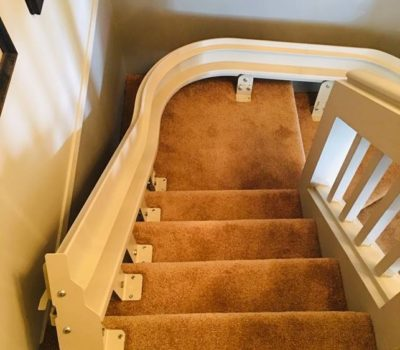 HME Curved Stair lift Installation in Surrey